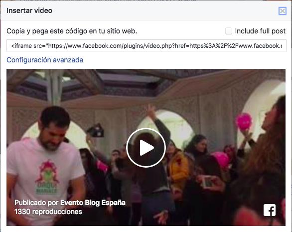 Cómo insertar vídeos de Facebook en WordPress • Ayuda WordPress