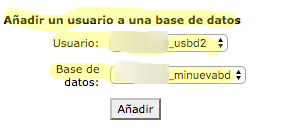 añadir usuario base de datos WordPress