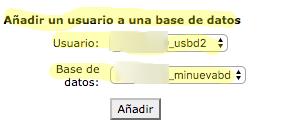añadir usuario base de datos WordPress