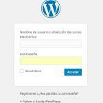 Todos los parámetros de acceso de WordPress
