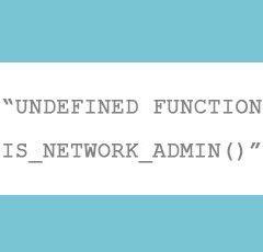 Cómo solucionar el error de WordPress «Fatal error undefined function is_network_admin()»
