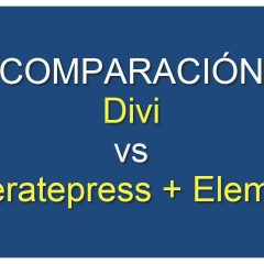Análisis comparativa: Divi y Generatepress + Elementor