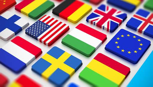idiomas banderas teclado