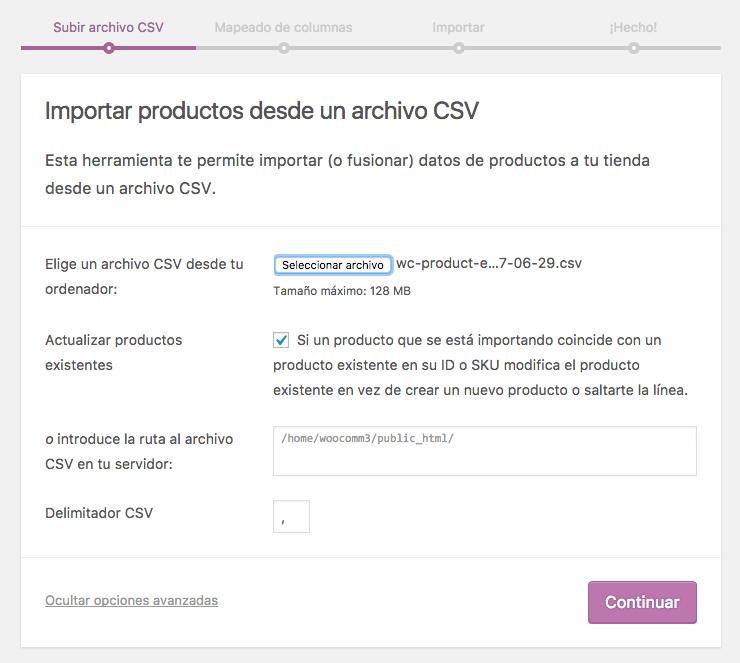 Cómo Importar un Archivo csv a WooCommerce