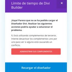 Tutorial Divi: Cómo solucionar el error de límite de tiempo de Divi Builder