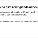 error redireccion firefox
