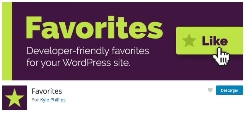 Favoritos en WordPress
