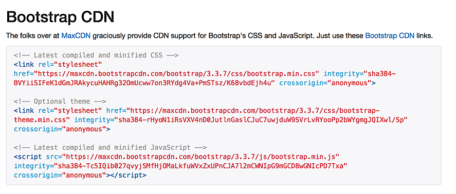 MaxCDN Bootstrap