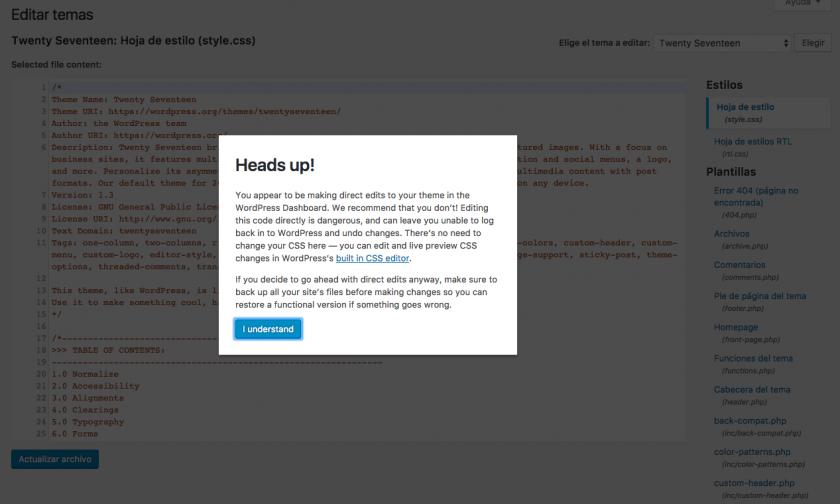 WordPress 4.9 - Todas las novedades con capturas de cada cambio