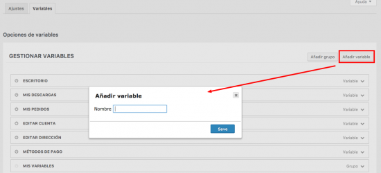Añadir variable