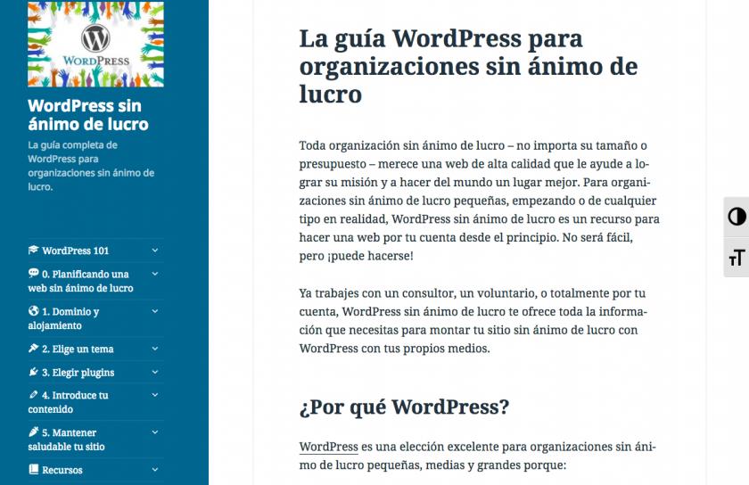 WordPress para organizaciones sin ánimo de lucro • Ayuda WordPress