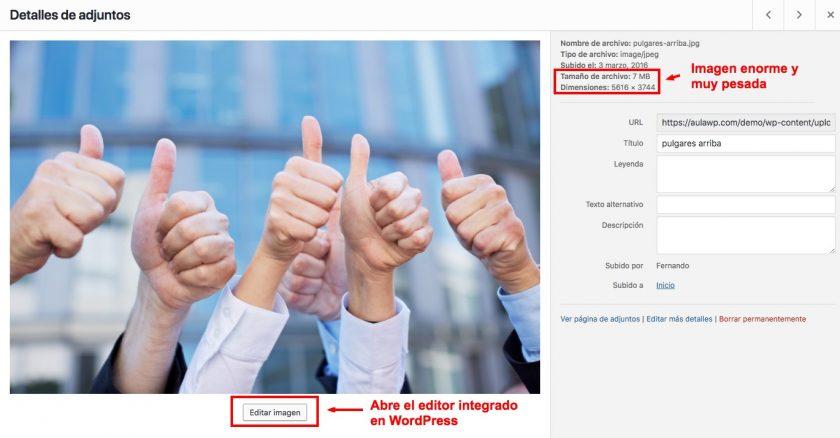 editar imagen wordpress 1