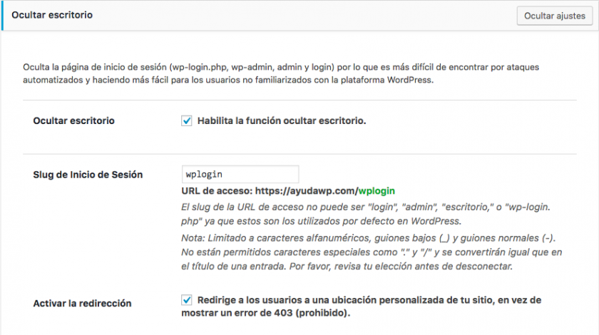Oculta la pantalla de acceso de WordPress sin plugins • Ayuda WordPress