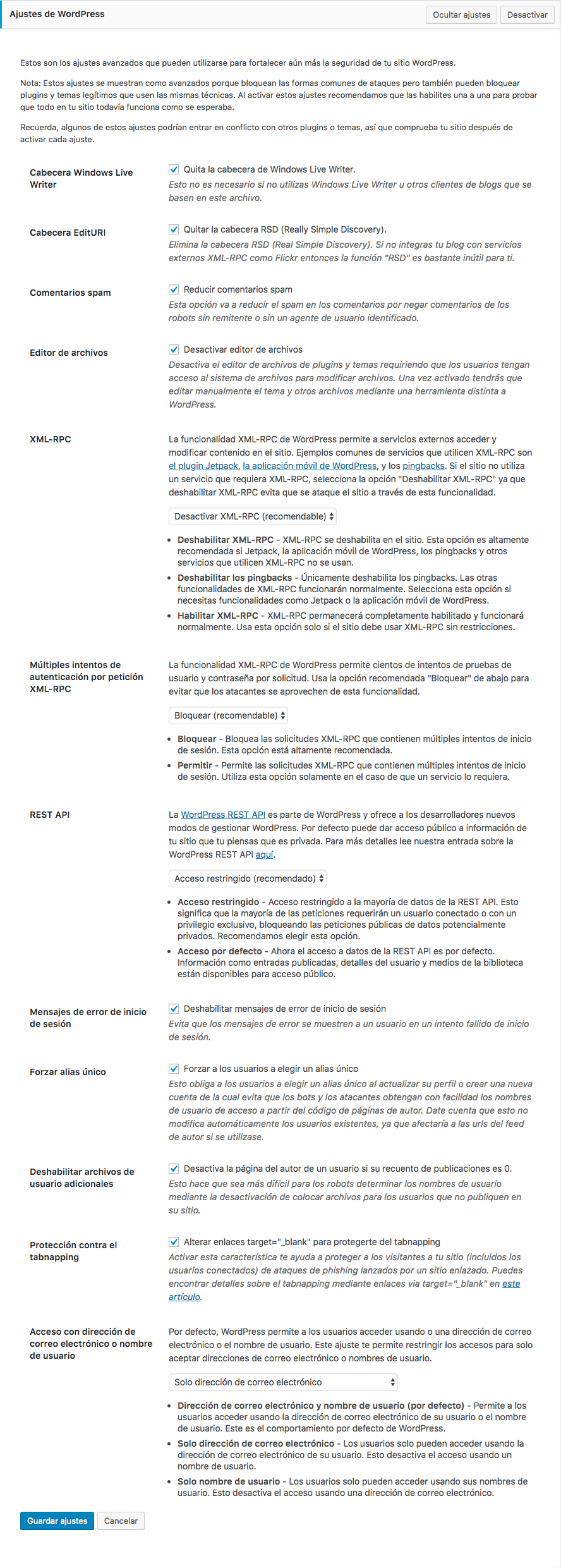 Cómo configurar correctamente iThemes Security • Ayuda WordPress
