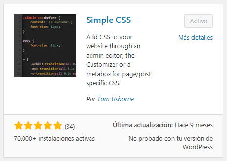 Como modificar el CSS de tu WordPress sin utilizar un Child Theme ...