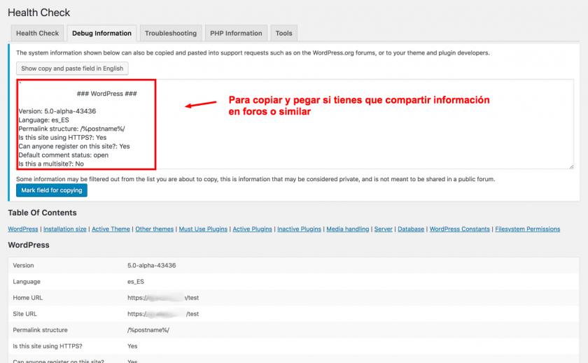 Pon WordPress en modo de pruebas • Ayuda WordPress