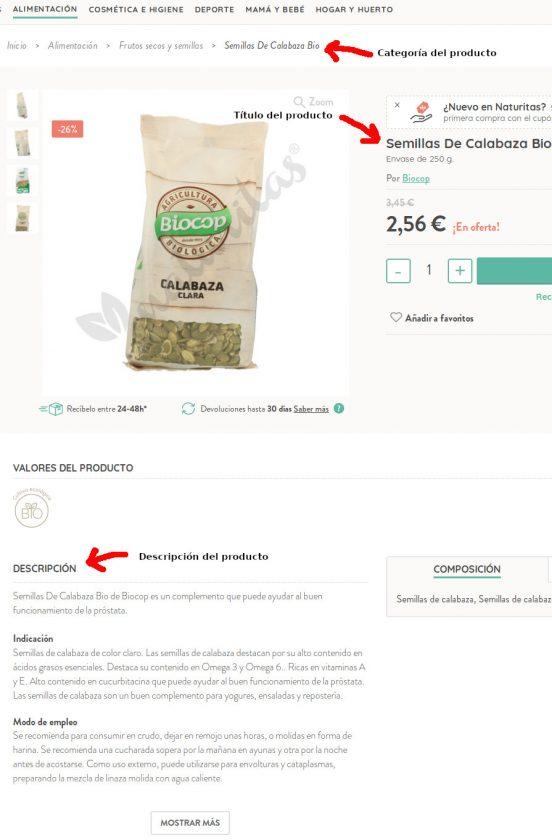 Página de producto en WooCommerce optimizada