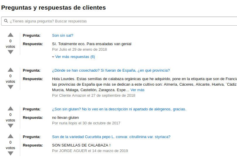 Preguntas y respuestas de clientes