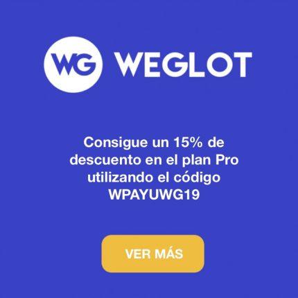 Weglot descuento 15%