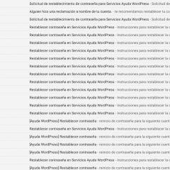 Cómo desactivar los emails de contraseña perdida o cambiada