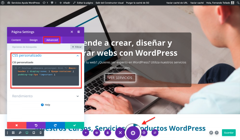 Como ocultar o menu principal • Ajuda do WordPress 3