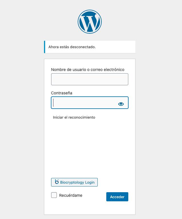 Reconhecimento facial para acessar o WordPress, você pode? • ajuda do WordPress 9