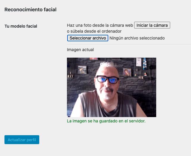 Reconhecimento facial para acessar o WordPress, você pode? • ajuda do WordPress 11