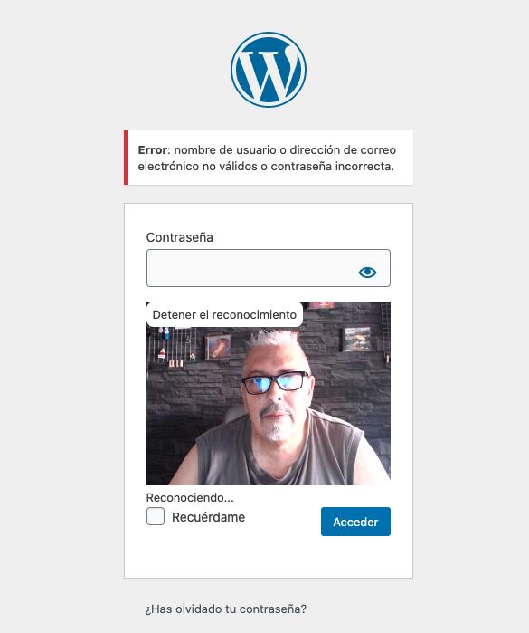 Reconhecimento facial para acessar o WordPress, você pode? • ajuda do WordPress 13