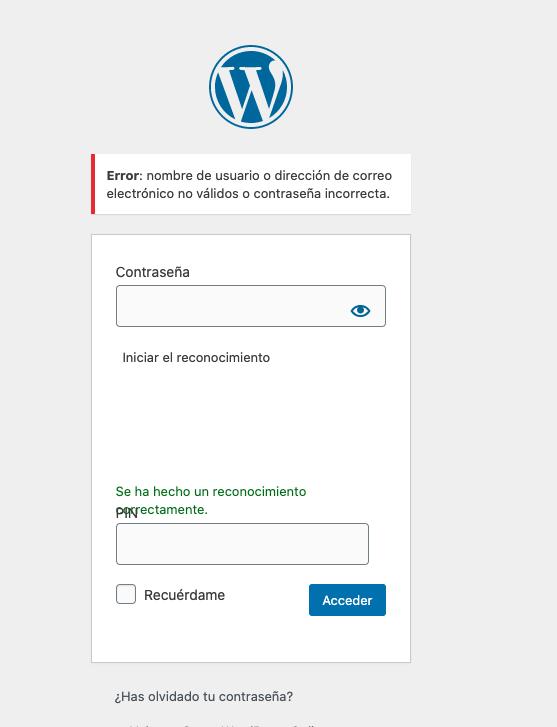 Reconhecimento facial para acessar o WordPress, você pode? • ajuda do WordPress 14