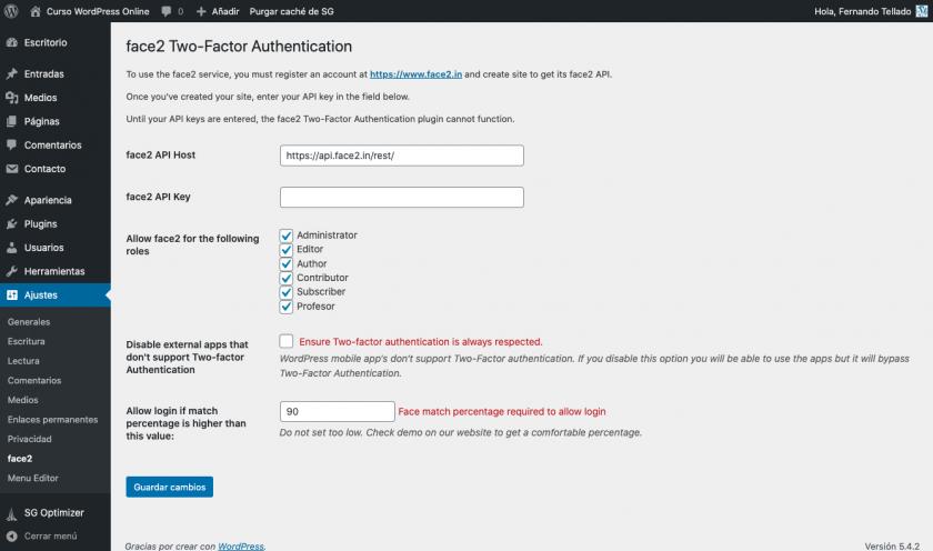 Reconhecimento facial para acessar o WordPress, você pode? • ajuda do WordPress 19