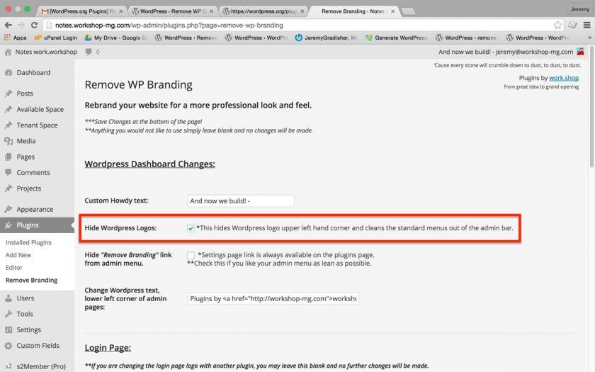 Como remover ou alterar o logotipo da barra de administração do WordPress • Ajuda do WordPress 3