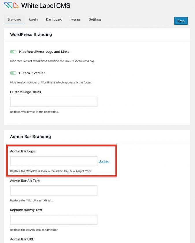 Como remover ou alterar o logotipo da barra de administração do WordPress • Ajuda do WordPress 9