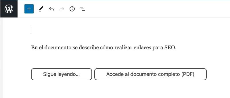 documento con 2 botones de sigue leyendo o accede a documento pdf