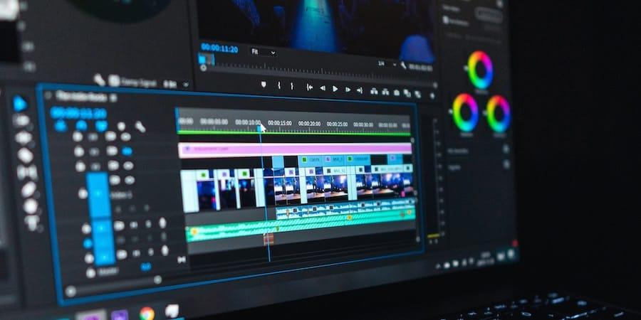 pantalla de programa de edición de vídeo
