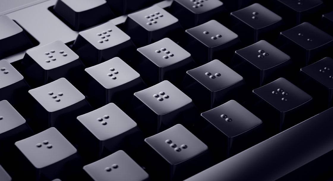 teclado con teclas braille